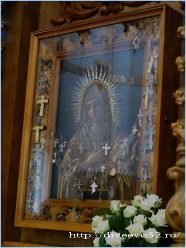 Троицкий собор в Дивееве: чудотворная икона Божией Матери «Умиление» (diveevo52.ru)